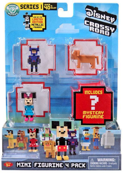 Crossy Road Disney Hiro, Nala, Minnie & Mystery Figure Mini Figure 4-Pack