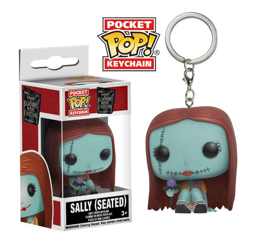 Funko Nightmare Before Christmas Pocket POP! Movies Sally Keychain [Seated]