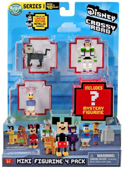 Crossy Road Disney Series 1 Rafiki, Buzz, Daisy & Mystery Figure Mini Figure 4-Pack