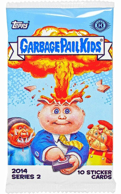 Garbage Pail Kids Topps 2014 Series 2 Trading Card Sticker HOBBY Pack [10 Cards!]