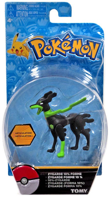 Pokemon Action Pose Zygarde 10% Forme 3-Inch Mini Figure [Blue Package]