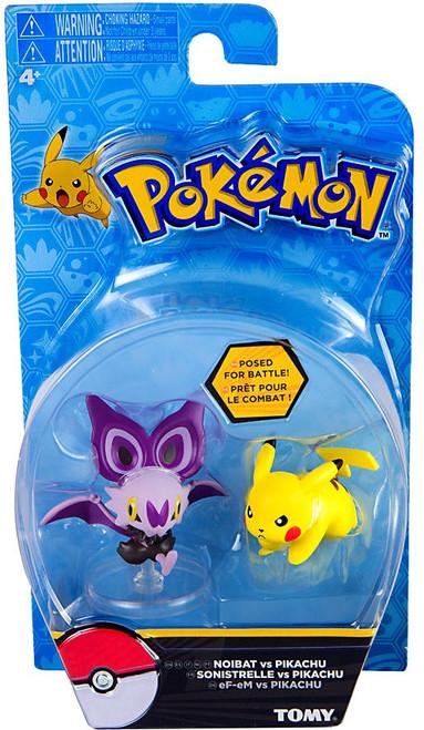 Pokemon Action Pose Noibat & Pikachu 3-Inch Mini Figure
