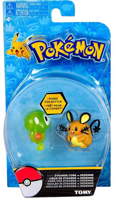 Pokemon Action Pose Zygarde Core & Dedenne 3-Inch Mini Figure