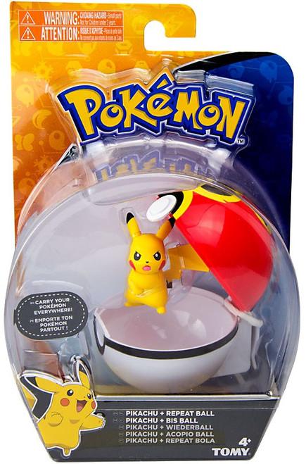 Pokemon Clip n Carry Pokeball Pikachu & Repeat Ball Figure Set