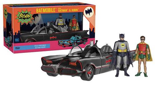 Funko DC Batman 1966 TV Series Batmobile, Batman & Robin Action Figure Set