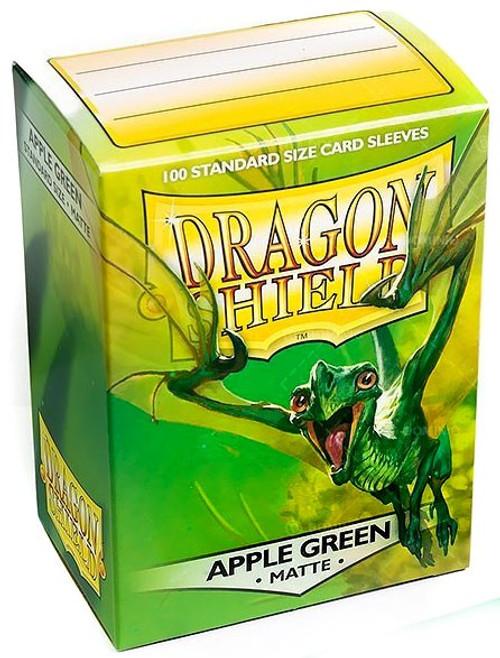Card Supplies Dragon Shield Matte Apple Green Standard Card Sleeves [100 Count]