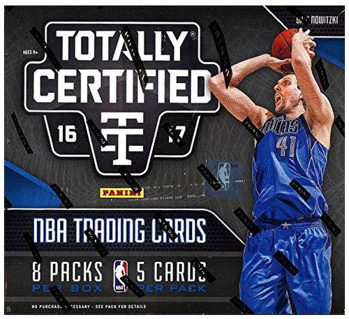 NBA Panini 2016-17 Totally Certified Basketball Trading Card HOBBY Box [8 Packs, 1 Autograph & 2 Memorabilia Cards!]