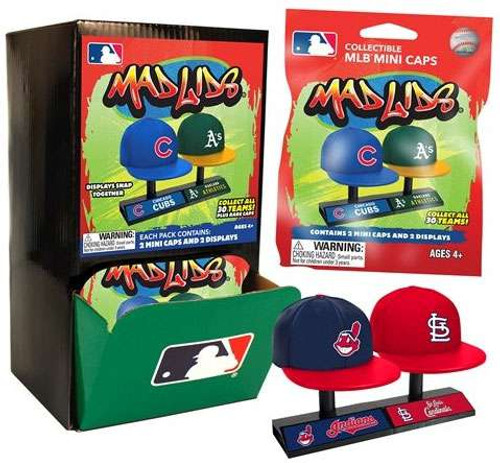 MLB Mad Lids Mini Baseball Caps Mystery Box [24 Packs]