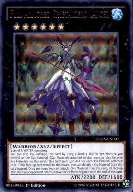 YuGiOh Duelist Saga Ultra Rare Full Armored Crystalzero Lancer DUSA-EN007