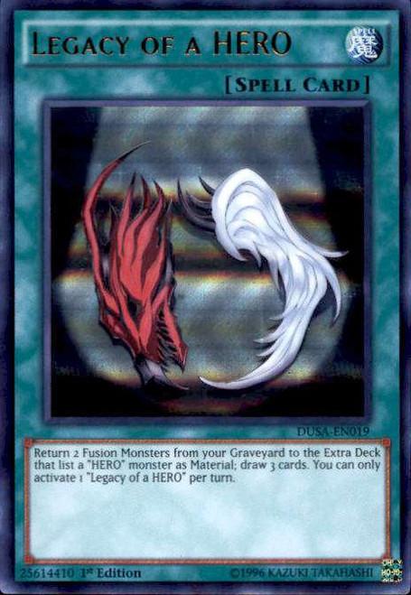 YuGiOh Duelist Saga Ultra Rare Legacy of a HERO DUSA-EN019