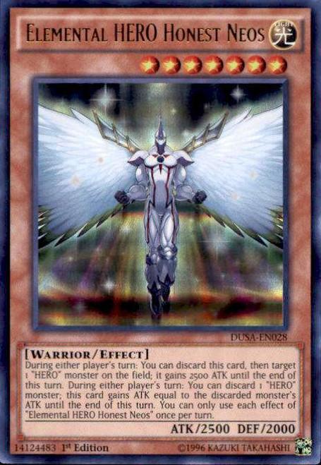 YuGiOh Duelist Saga Ultra Rare Elemental HERO Honest Neos DUSA-EN028