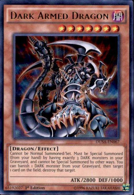 YuGiOh Duelist Saga Ultra Rare Dark Armed Dragon DUSA-EN067