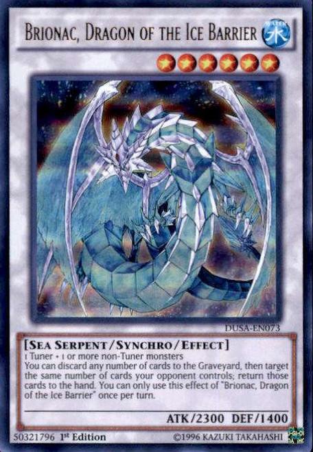 YuGiOh Duelist Saga Ultra Rare Brionac, Dragon of the Ice Barrier DUSA-EN073