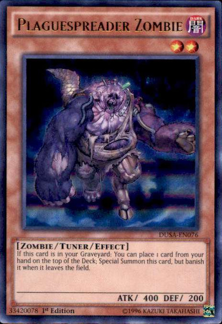 YuGiOh Duelist Saga Ultra Rare Plaguespreader Zombie DUSA-EN076
