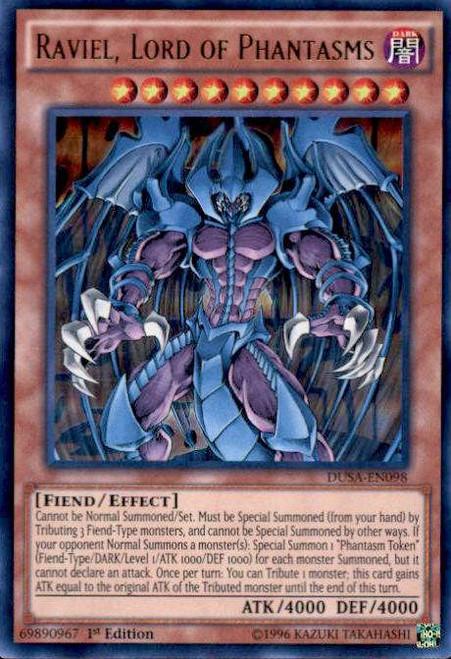 YuGiOh Duelist Saga Ultra Rare Raviel, Lord of Phantasms DUSA-EN098