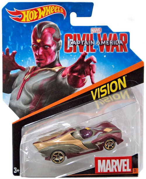 Hot Wheels Marvel Captain America Civil War Vision Diecast Car