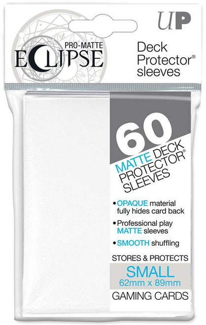 Ultra Pro Card Supplies Eclipse Pro-Matte White Small Card Sleeves [60 Count]