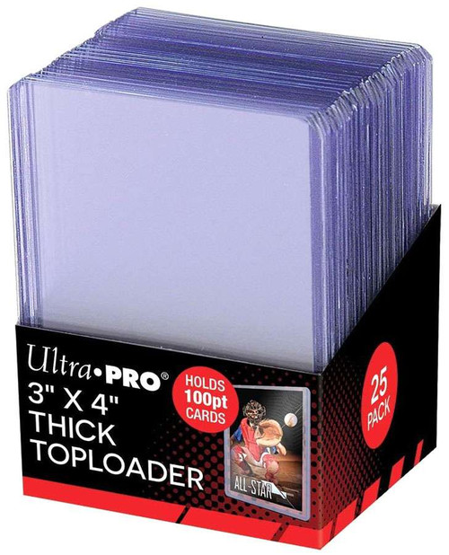 """Ultra Pro Card Supplies Toploader Series 3"""" X 4"""" Thick Toploader 100pt Card Holders [25 Count]"""