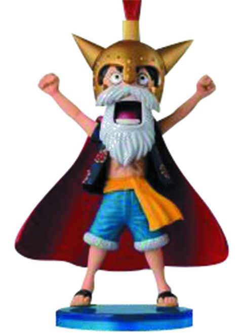 """One Piece WCF Fight """"Lucy"""" Monkey D. Luffy 2.5-Inch Collectible Figure DR03"""