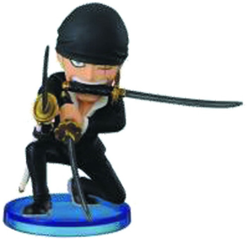 One Piece WCF Fight Dressrosa Roronoa Zoro 2.5-Inch Collectible Figure DR08 [V2]