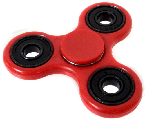 Spinners Red Spinner [Random Color Inset Rings]