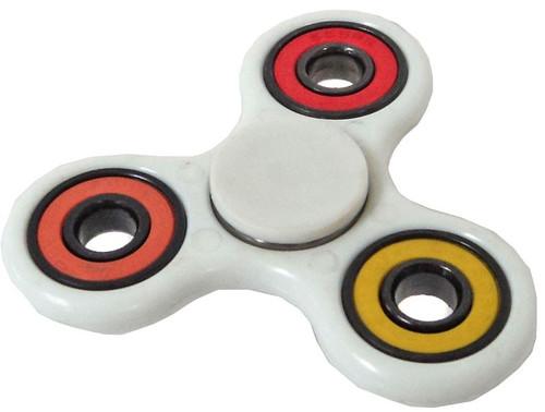 Spinners White Spinner [Random Color Inset Rings]