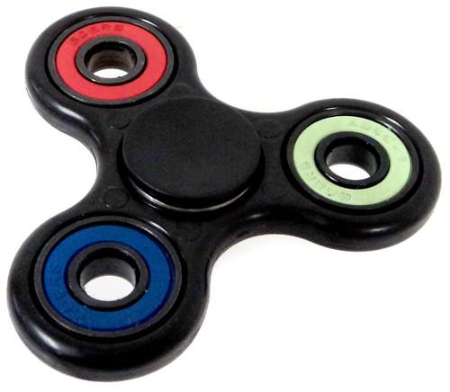 Spinners Black Spinner [RANDOM Color Inset Rings]