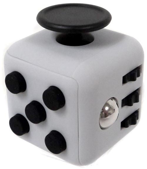 Fidget Cube Light Grey & Black Fidget Gadget Cube [ICool]
