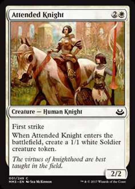 MtG Modern Masters 2017 Edition Common Foil Attended Knight #1