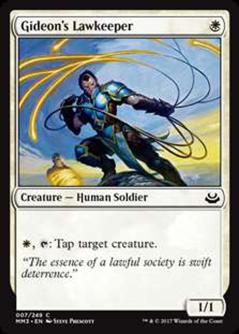 MtG Modern Masters 2017 Edition Common Foil Gideon's Lawkeeper #7