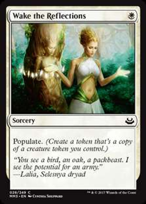 MtG Modern Masters 2017 Edition Common Foil Wake the Reflections #28
