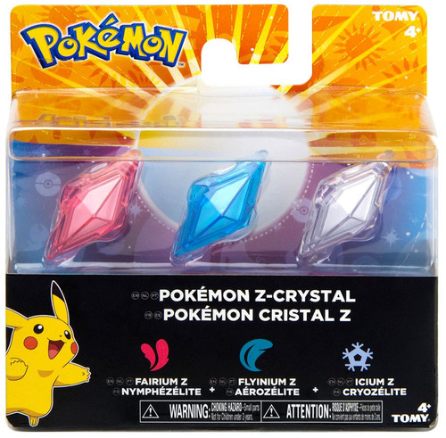 Pokemon Z-Ring Fairium Z, Flyinium Z & Icium Z Crystal 3-Pack