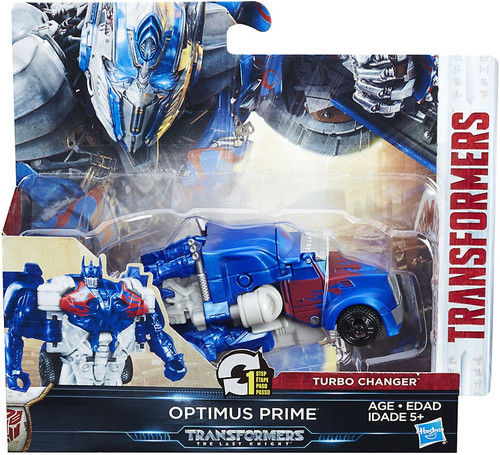 Transformers The Last Knight 1 Step Turbo Changer Optimus Prime Action Figure [Four Moons]