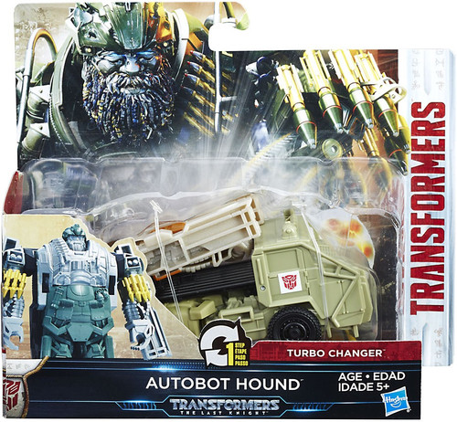 Transformers The Last Knight 1 Step Turbo Changer Autobot Hound Action Figure [Supernova]