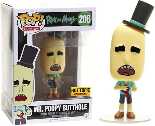 Funko Rick & Morty POP! Animation Mr. Poopy Butthole Exclusive Vinyl Figure #206 [Gunshot Wound]