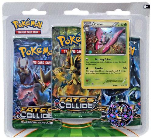 Pokemon X Y Fates Collide 3-Pack Special Edition [Vivillon]