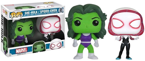 Funko POP! Marvel She-Hulk & Spider-Gwen Exclusive Vinyl Bobble Head 2-Pack