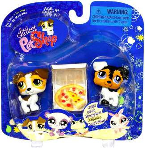 Littlest Pet Shop 2009 Assortment A Series 1 Russell Terriers Figure 2-Pack [With Pizza]