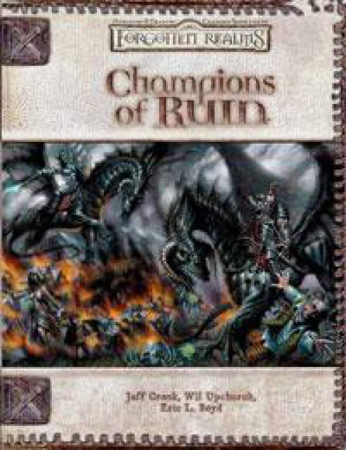 Dungeons & Dragons D&D 3rd Edition Forgotten Realms Champions of Ruin Roleplaying Book