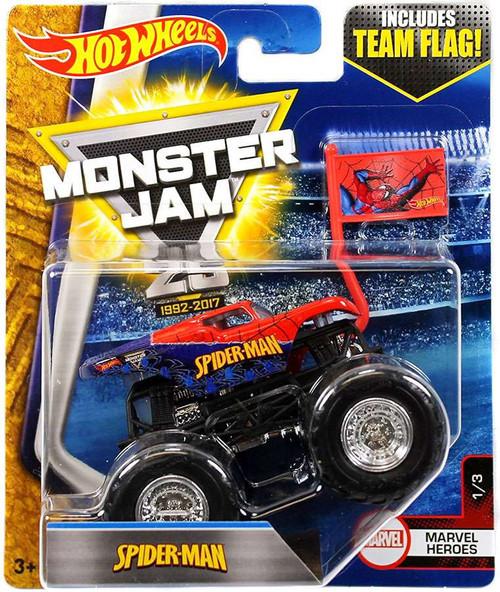 Hot Wheels Monster Jam 25 Spider-Man Diecast Car #1/3 [Marvel Heroes]