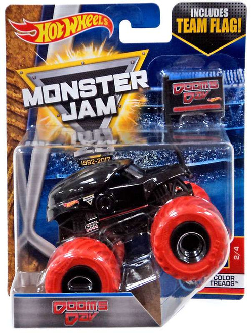 Hot Wheels Monster Jam 25 Dooms Day Die-Cast Car #2/4 [Color Treads]