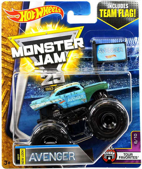 Hot Wheels Monster Jam 25 Avenger Die-Cast Car #6/10 [Tour Favorites]