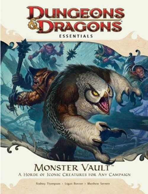 Dungeons & Dragons D&D 4th Edition Monster Vault A Horde of Iconic Creatures for Any Campaign Roleplay Set