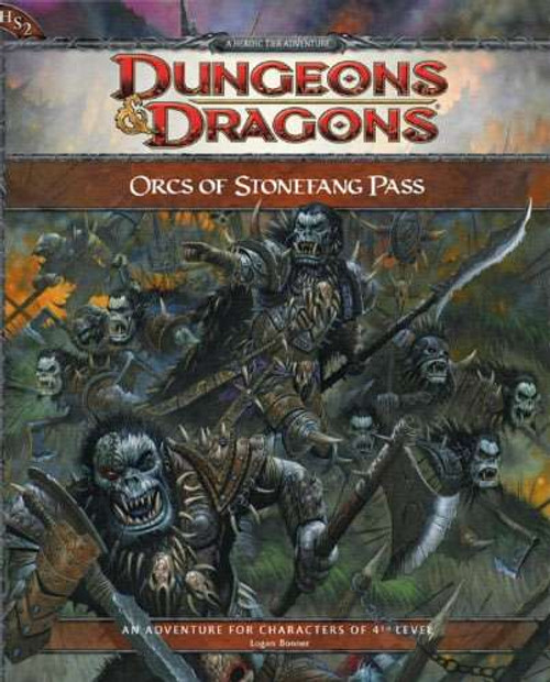 Dungeons & Dragons D&D 3rd Edition Orcs of Stonefang Pass Adventure HS2