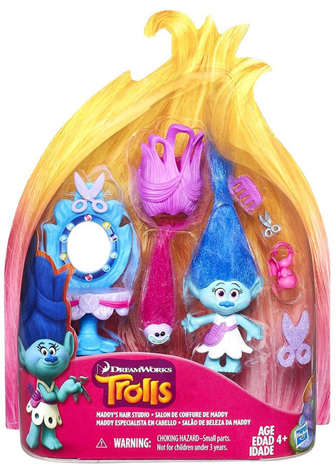 Trolls Maddy's Hair Studio Story Pack Action Figure