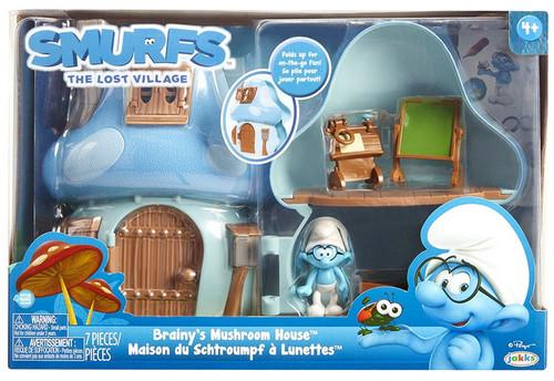 The Smurfs The Lost Village Brainy's Mushroom House Figure Playset
