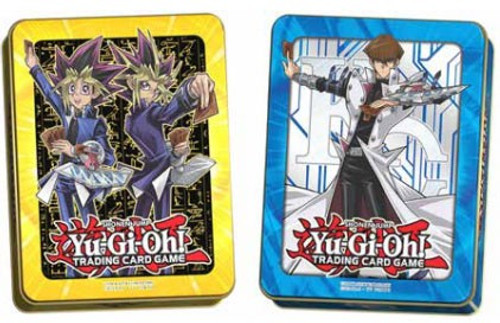 YuGiOh Trading Card Game 2017 Yami Yugi & Yugi Muto and Kaiba Set of Both Mega Tins