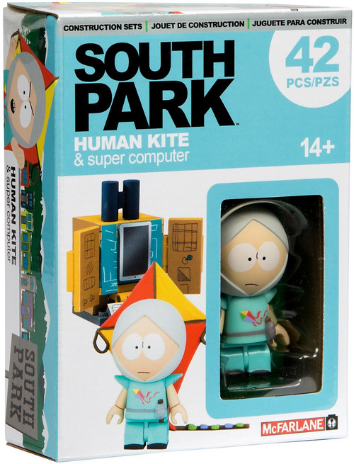 McFarlane Toys South Park Human Kite Kyle With Supercomputer Micro Construction Set
