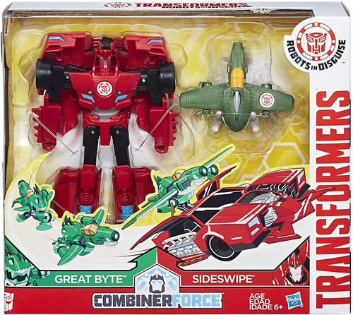 Transformers Robots in Disguise Activators Sideswipe & Great Byte Action Figure [Combiner Force]