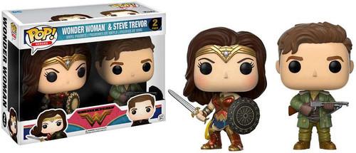Funko DC Wonder Woman Movie POP! Movies Wonder Woman & Steve Trevor Exclusive Vinyl Figure